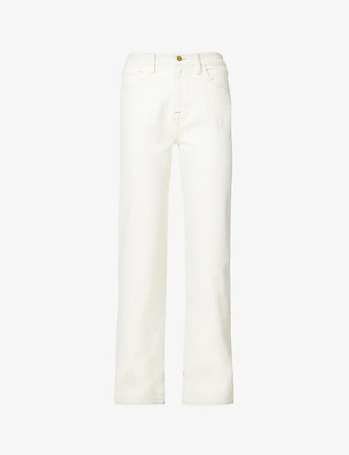 FRAME: Le Jane straight-leg high-rise jeans