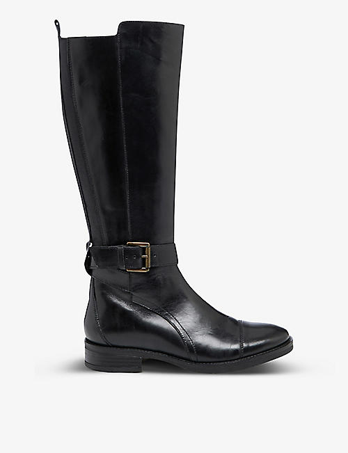 BERTIE: Tusk leather knee-high boots