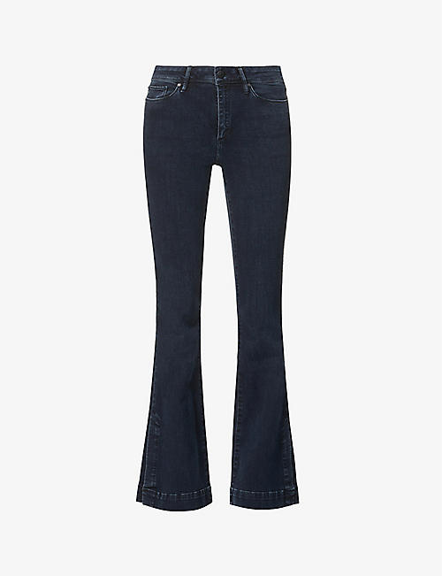 TOMORROW: Albert flared high-rise stretch-organic denim jeans