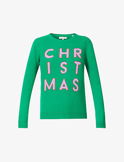 CHINTI AND PARKER: Christmas-print wool- and cashmere-blend jumper