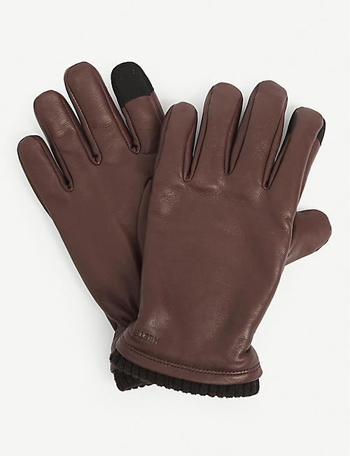 HESTRA: John touchscreen leather gloves