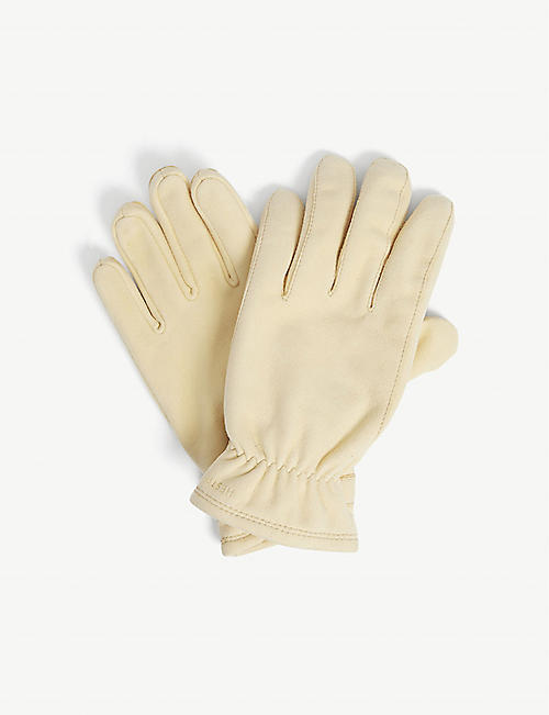 HESTRA: Torgil suede and wool-blend gloves