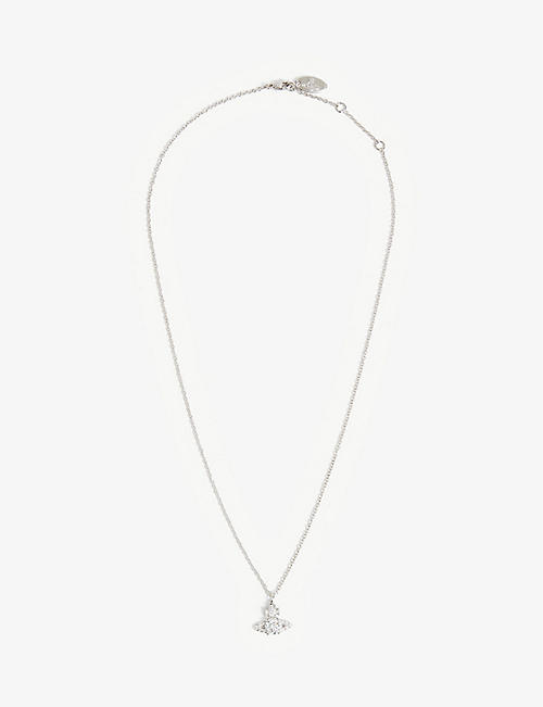 VIVIENNE WESTWOOD JEWELLERY: Ismene rhodium-plated brass necklace
