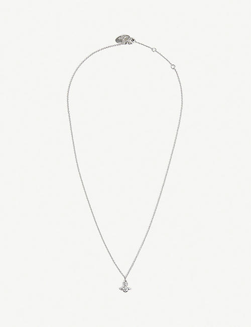 VIVIENNE WESTWOOD JEWELLERY: London Orb rhodium-plated brass necklace