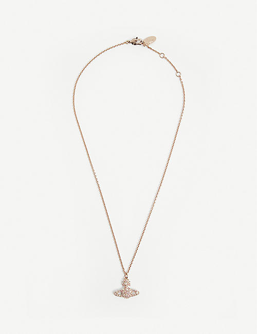 VIVIENNE WESTWOOD JEWELLERY: Grace Bas Relief orb brass necklace