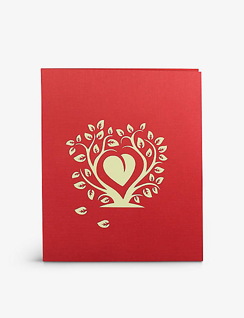 VALENTINES: Love Heart Tree pop-up greetings card 18cm x 15cm