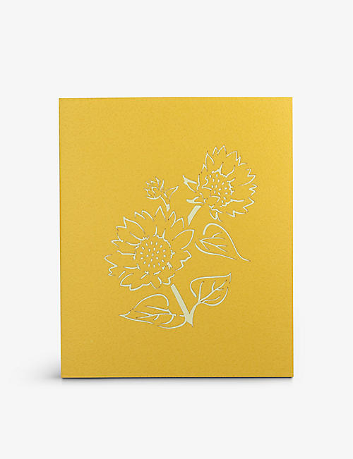 VALENTINES: Sunflower pop-up greetings card 18cm x 15cm