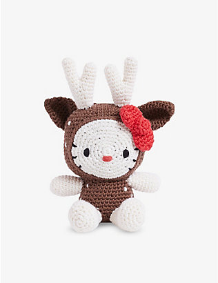 针迹与故事:Hello Kitty Reindeer Amigurumi 套装