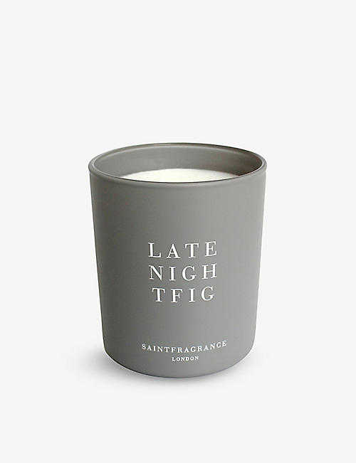 SAINT FRAGRANCE LONDON: Late Night Fig scented candle 200g