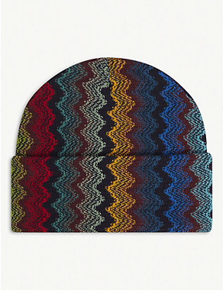 MISSONI: Zig-zag stripe wool-blend beanie