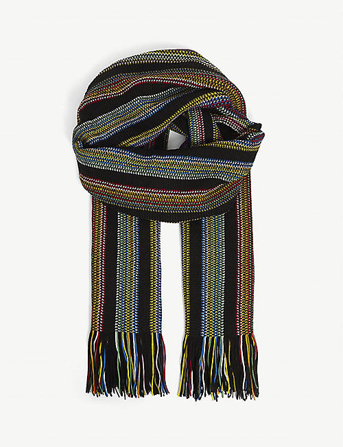 MISSONI: Striped wool scarf