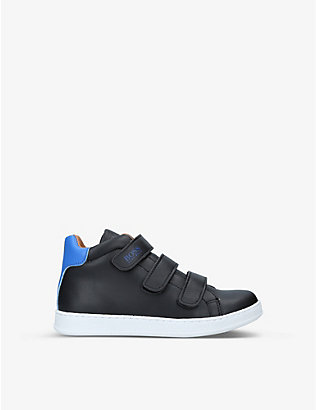 BOSS BY HUGO BOSS: Logo-print high-top fabric trainers 7 years