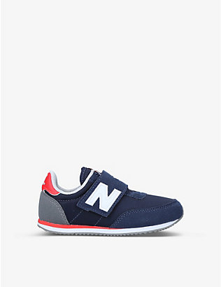 NEW BALANCE: 720 logo-embellished suede and woven trainers 2-5 years