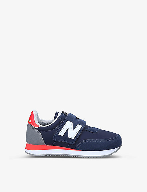 NEW BALANCE: 720 logo-embellished suede and woven trainers 6-8 years