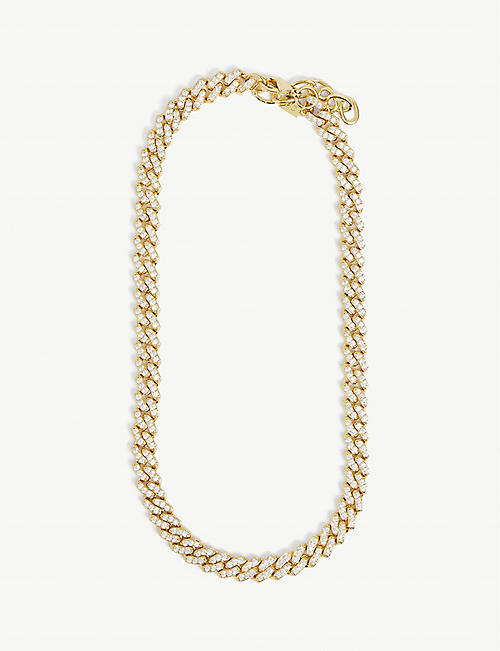 CRYSTAL HAZE: Mexican Chain 18ct gold-plated and zirconia necklace