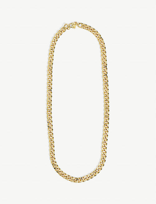 CRYSTAL HAZE: Plain Jane 18ct gold-plated chain necklace