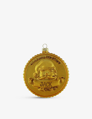 THIE WORKSHOP Gold Coin personalised Christmas decoration
