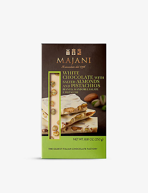 MAJANI: White chocolate with salted almonds and pistachios 250g