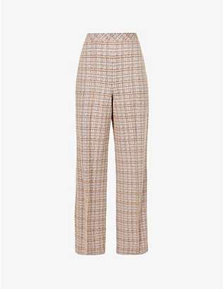 ROSETTA GETTY: stretch-woven plaid trousers