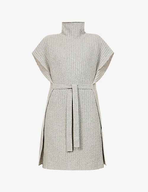 ROSETTA GETTY: Turtleneck sleeveless cashmere cardigan