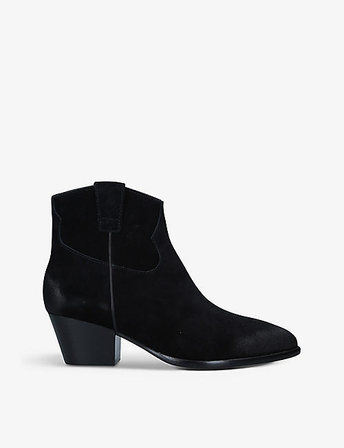 ASH: Houston heeled suede ankle boots