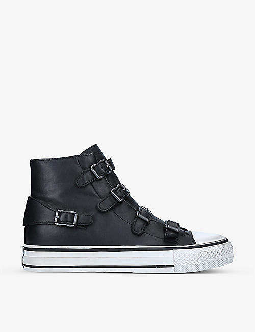 ASH: Virgin buckle-detail high-top leather trainers