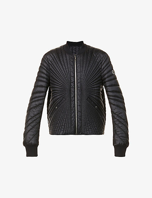 RICK OWENS: Moncler + Rick Owens quilted shell-down jacket