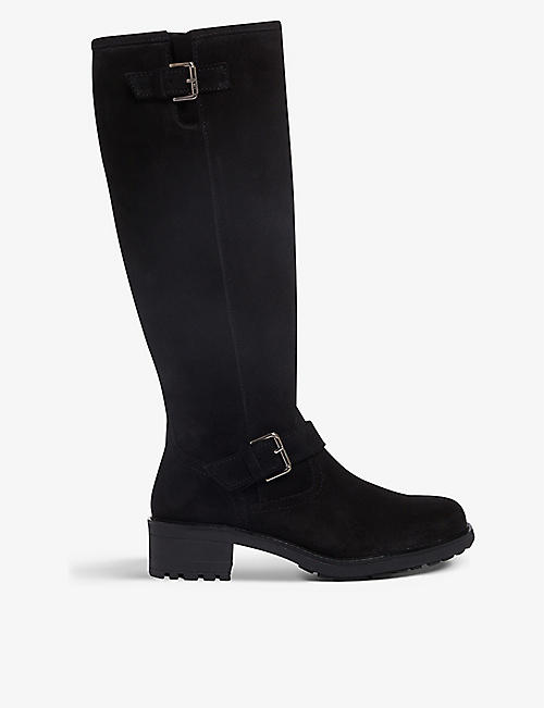 BERTIE: Trust suede knee-high boots