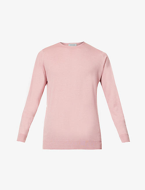 JOHN SMEDLEY: Clundy crewneck wool-cotton blend jumper