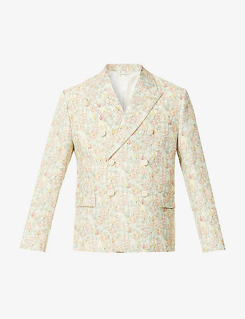 GUCCI: Gucci x Liberty Derry floral-print wool and mohair-blend blazer