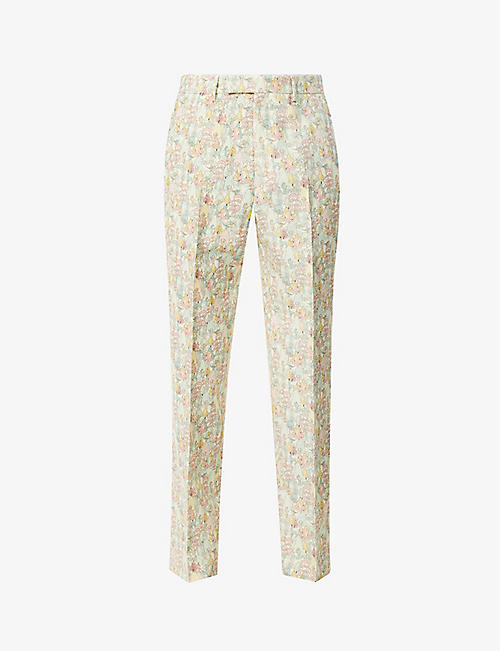 GUCCI: Gucci x Liberty Derry floral-print wool and mohair-blend trousers