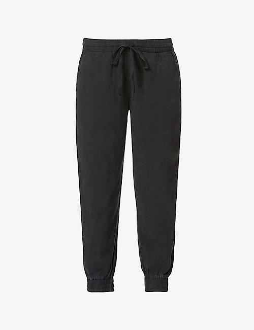BELLA DAHL: Easy cropped mid-rise woven jogging bottoms