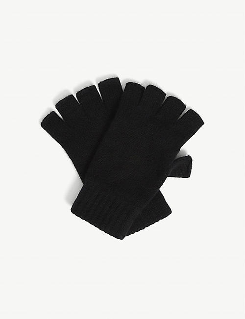 JOHNSTONS: Fingerless cashmere gloves