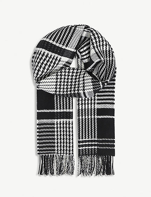 JOHNSTONS: Patchwork cashmere scarf