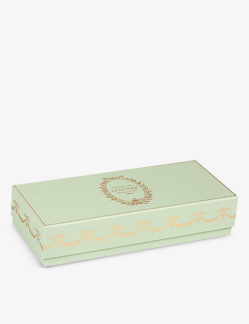 LADUREE: Incontournable pistachio macarons box of 12 192g