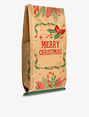 THIE WORKSHOP Christmas Foliage Personalised Paper Sack