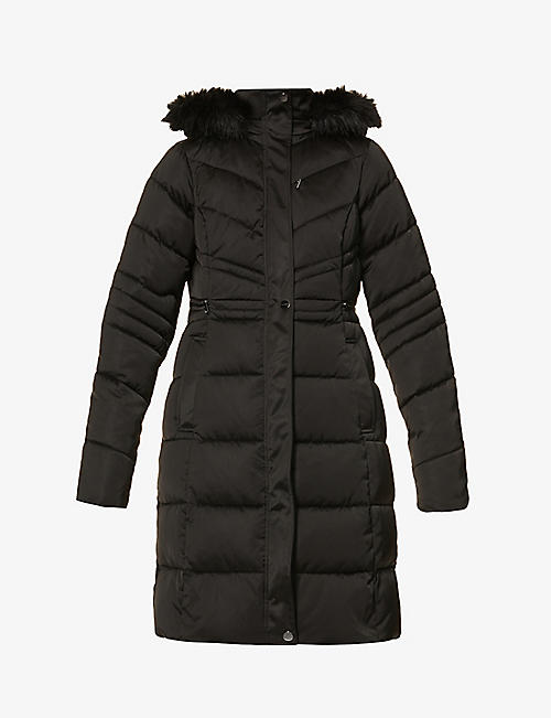 TED BAKER: Samira belted padded shell coat