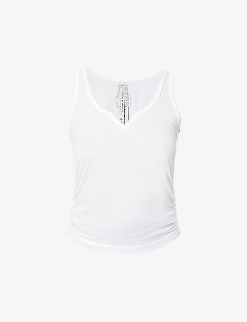 LORNA JANE: Muse scoop-neck jersey tank top