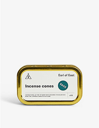 EARL OF EAST: Sage incense cones box of 16
