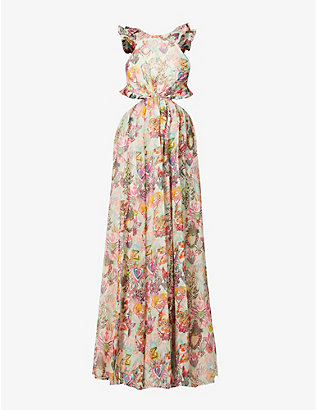 ZIMMERMANN: Love printed cotton, silk and linen-blend maxi dress