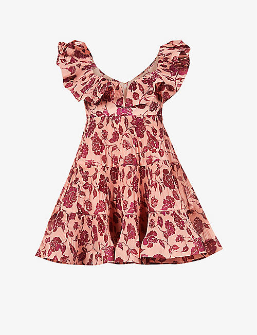 ZIMMERMANN: Love ruffle-trimmed woven mini dress