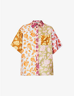 ZIMMERMANN: Lovestruck contrast floral-print silk-twill shirt