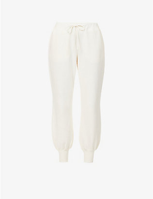 ZIMMERMANN: Love high-rise cotton-blend jersey jogging bottoms