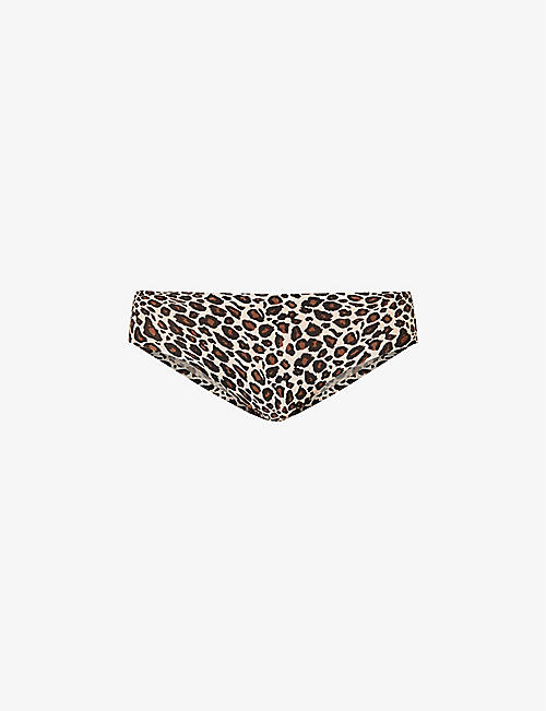 CHANTELLE: Leopard-print stretch-jersey briefs