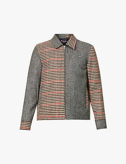 ROWING BLAZERS: Patchwork wool jacket