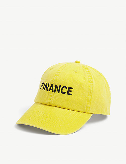ROWING BLAZERS: Finance cotton-canvas cap