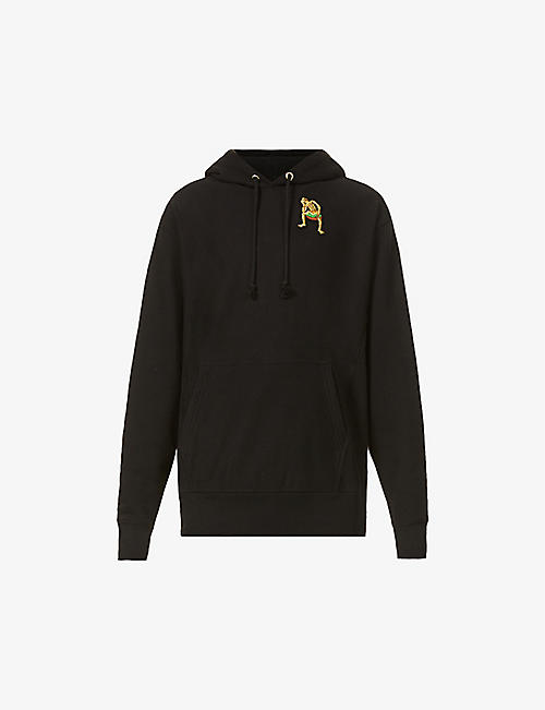 ROWING BLAZERS: Derry Bones bead-embellished cotton-jersey hoody