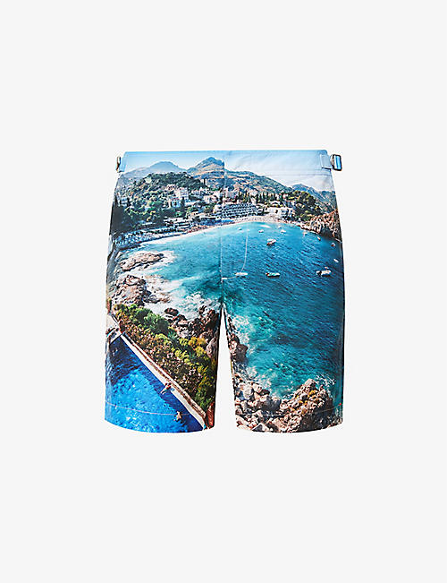 ORLEBAR BROWN: Bulldog photo-print swim shorts