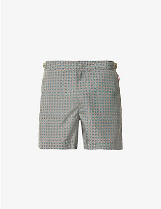 ORLEBAR BROWN: Setter X geometric-print swim shorts
