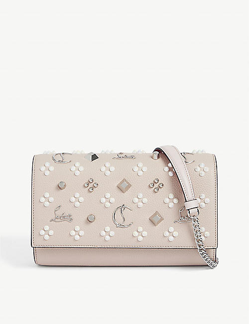 CHRISTIAN LOUBOUTIN: Paloma leather clutch bag